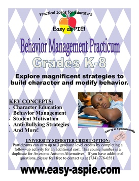 Behavior Management Practicum